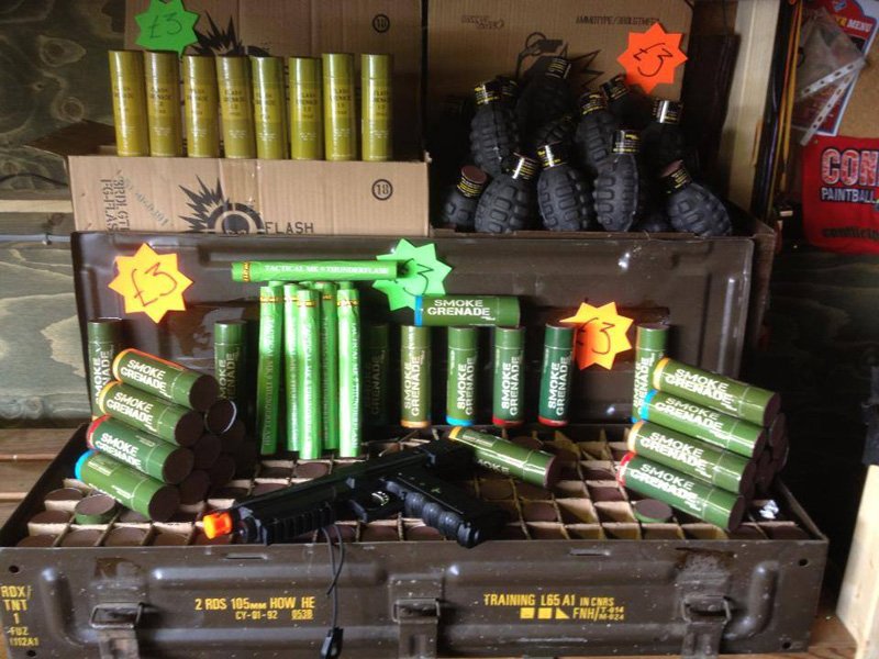 Bundle of Conflict Paintball smoke and pain grenades