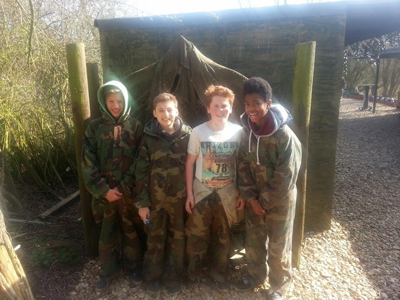 Children getting ready to play some Low Impact Paintball at Conflict Paintball